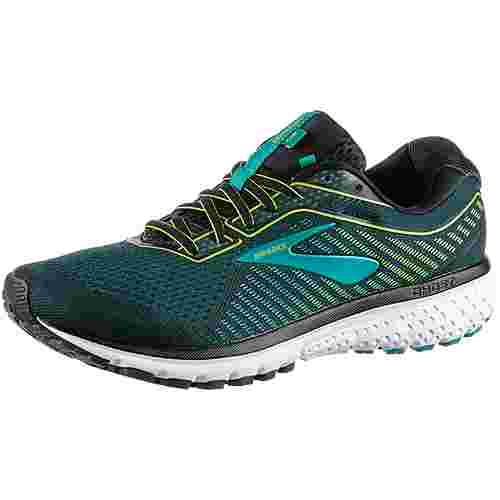 Brooks Ghost 12 Laufschuhe Herren black-lime-blue grass
