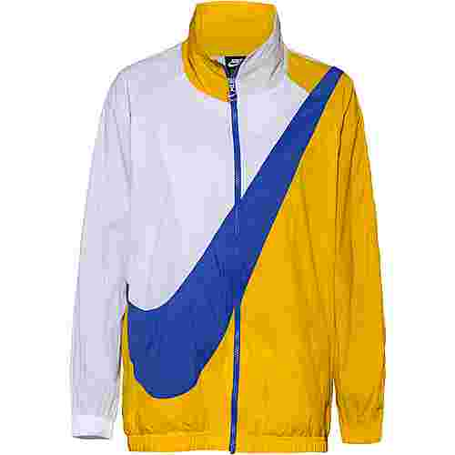 Nike NSW Nylonjacke Damen dark sulfur-white-game royal
