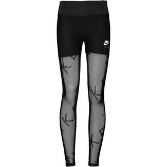 Nike Air Mesh Lauftights Damen black-white