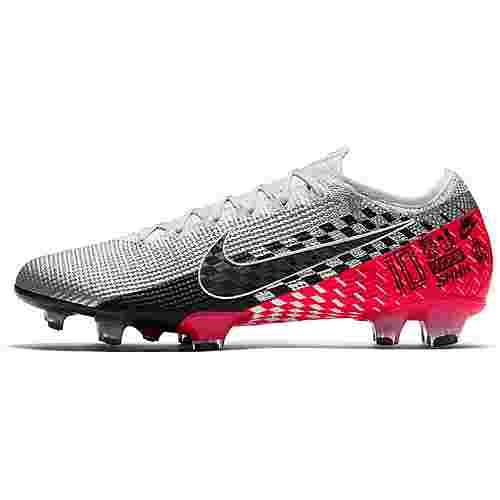 Nike MERCURIAL VAPOR 13 ELITE NJR FG Fußballschuhe Herren chrome-black-red orbit-platinum tint-white