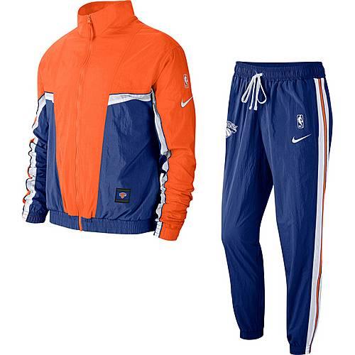 Nike New York Knicks Trainingsanzug Herren rush blue brilliant orange white im Online Shop von SportScheck kaufen