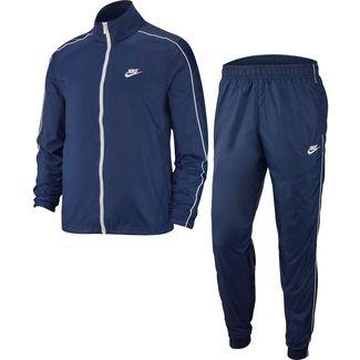 Nike NSW TRACK SUIT WOVEN Trainingsanzug Herren midnight navy-white-white