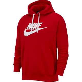 Nike NSW CLUB Hoodie Herren university red-white-white
