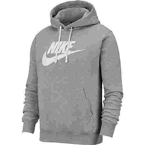 Nike NSW CLUB Hoodie Herren dk grey heather-matte silver-white