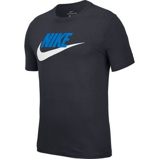 Nike NSW ICON FUTURA T-Shirt Herren obsidian-lt photo blue-white