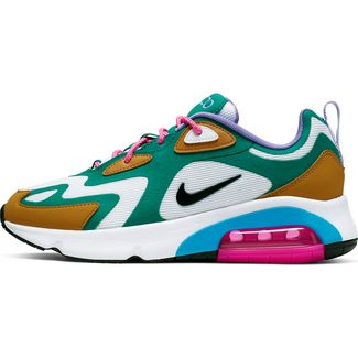 Nike Air Max 200 Sneaker Damen mystic green-white-gold sued