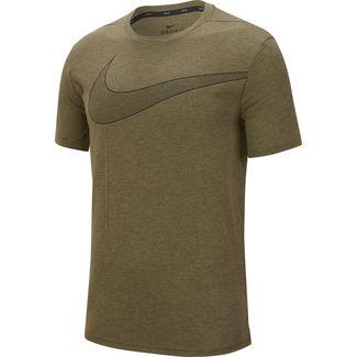 Nike Breathe Hyper Dry Funktionsshirt Herren cargo khaki-htr-black