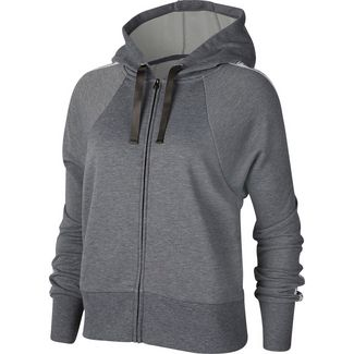 Nike Dry Get Fit Sweatjacke Damen carbon heather-black