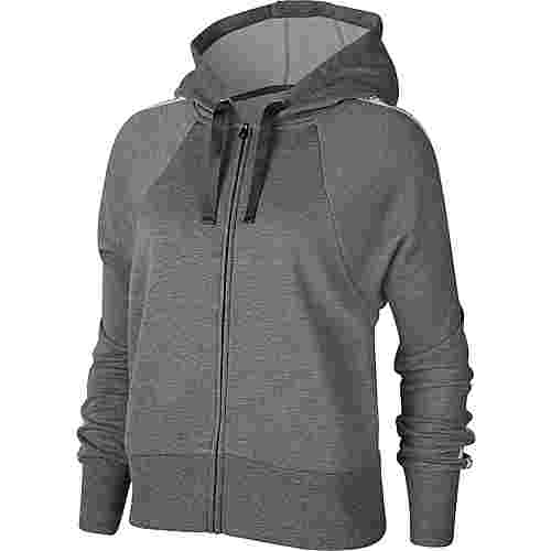 Nike Dry Get Fit Sweatjacke Damen carbon heather-black