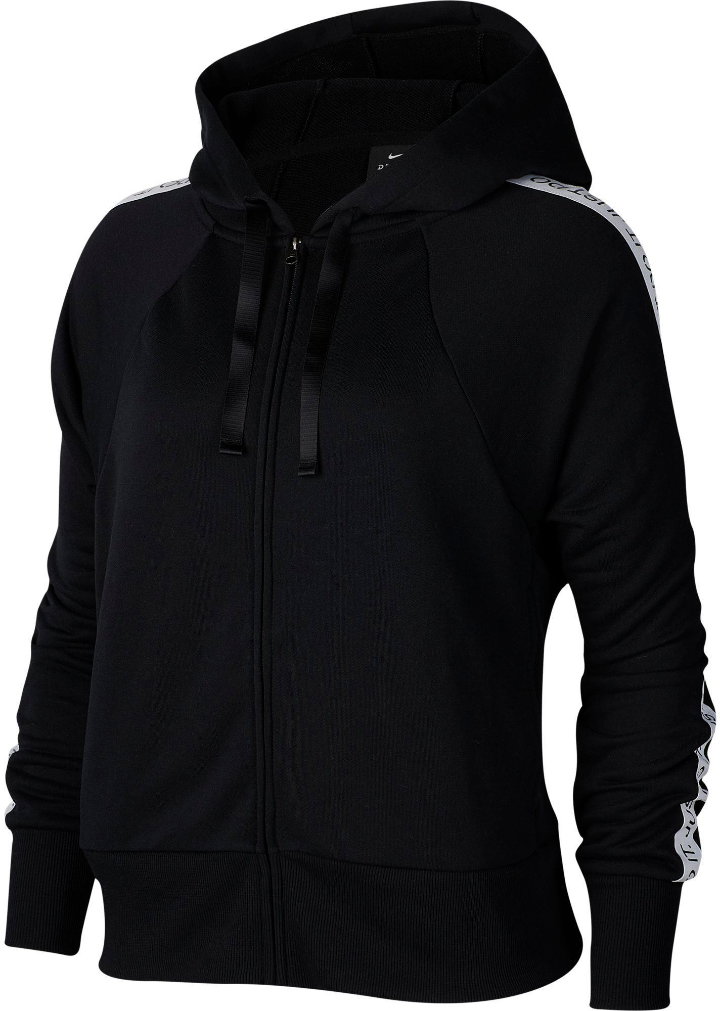 Nike Dry Get Fit Sweatjacke Damen black white im Online Shop von SportScheck kaufen