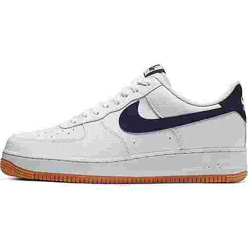Nike Air Force 1 ´07 Sneaker Herren white-obsidian-university red