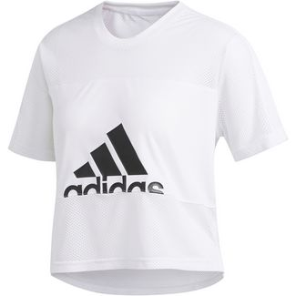 adidas BADGE OF SPORT Funktionsshirt Damen white