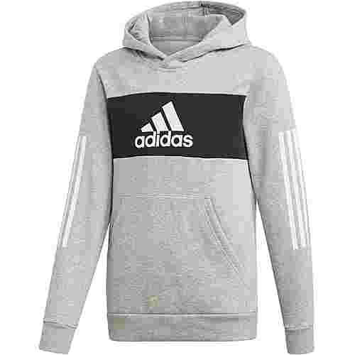 adidas Hoodie Kinder medium grey heather-black-white