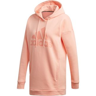 adidas Badge of Sport Hoodie Damen glow pink