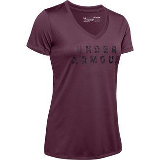 Under Armour Tech Funktionsshirt Damen purple