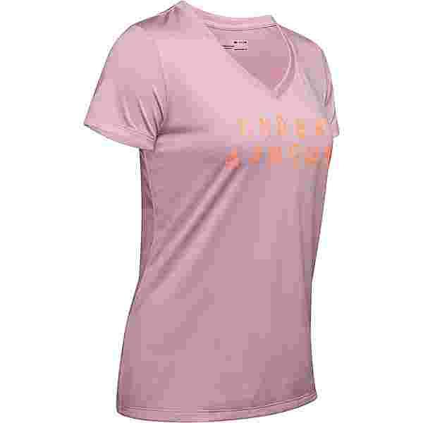Under Armour Tech Funktionsshirt Damen pink