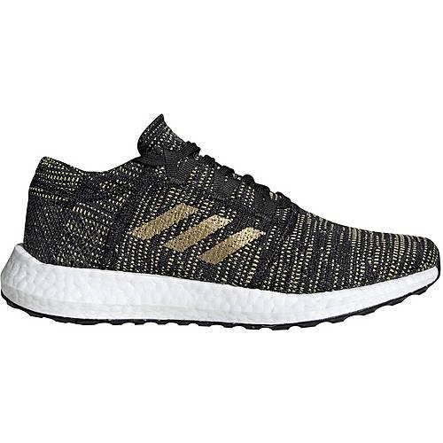 adidas pureboost go laufschuhe damen core black-gold-carbon