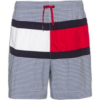 Tommy Hilfiger Medium Drawstring Badeshorts Herren navy blazer-white stripe