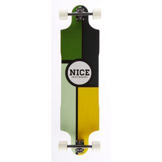 """NICE SKATEBOARDS Nice Forst 38,5"""" x 10"""" Longboard bunt"""
