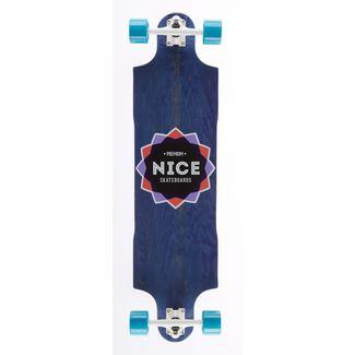 "NICE SKATEBOARDS Nice Icon Blue 38,5"" x 10"" Longboard bunt"