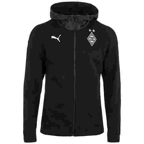 PUMA Borussia Mönchengladbach Casual Hooded Trainingsjacke Herren schwarz