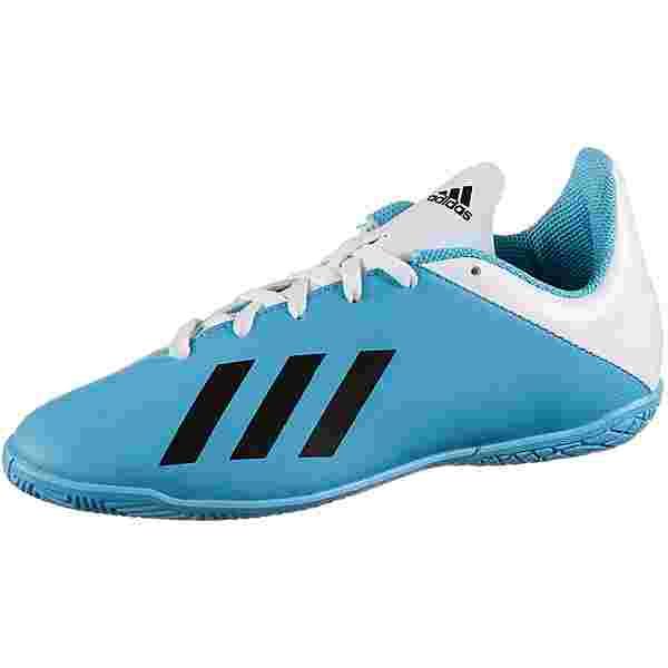 adidas X 19.4 IN J Fußballschuhe Kinder bright cyan