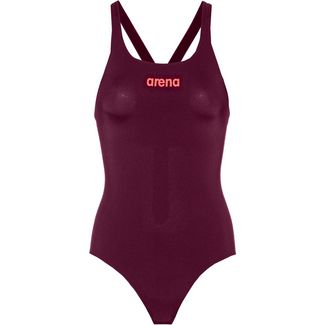 Arena Solid Swim Pro Schwimmanzug Damen red wine-shiny pink
