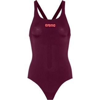 Arena Solid Swim Pro Schwimmanzug Damen red wine-shiny pink