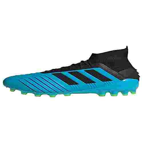 adidas Predator 19.1 AG Fußballschuh Fußballschuhe Herren Bright Cyan / Core Black / Solar Yellow