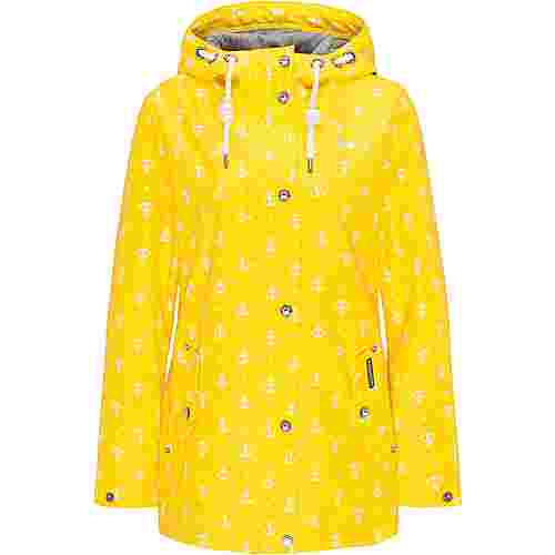 Schmuddelwedda Regenjacke Damen gelb AOP