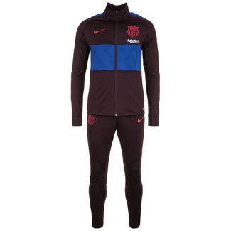 Nike FC Barcelona Dry Strike Trainingsanzug Herren weinrot / blau