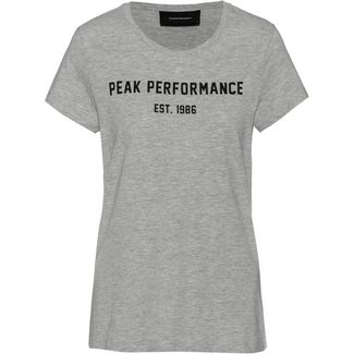 Peak Performance Paula T-Shirt Damen medium grey melange