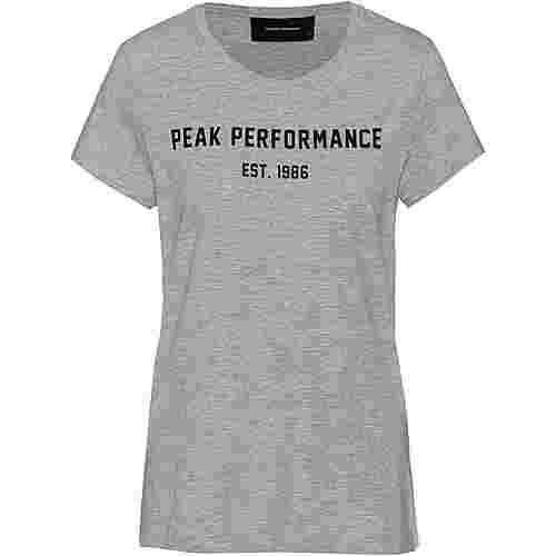 Peak Performance Paula T-Shirt Damen medium grey melange