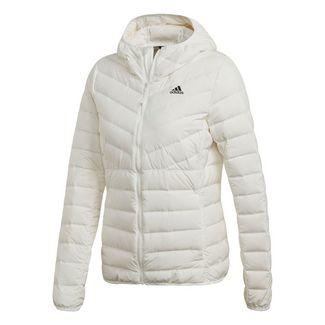 adidas 3-Streifen Soft Hooded Daunenjacke Daunenjacke Damen Core White