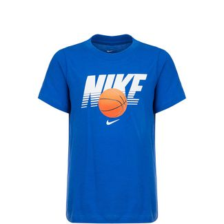 Nike Basketball Ball T-Shirt Kinder blau / weiß