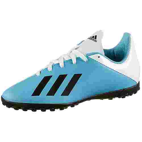 adidas X 19.4 TF J Fußballschuhe Kinder bright cyan