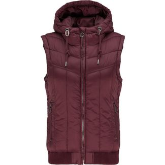 DreiMaster Outdoorweste Damen bordeaux