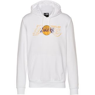 New Era Los Angeles Lakers Hoodie Herren optic white