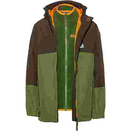 Jack Wolfskin Doppeljacke Kinder antique-green