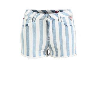 Khujo SARASWATI Shorts Damen blau-weiß