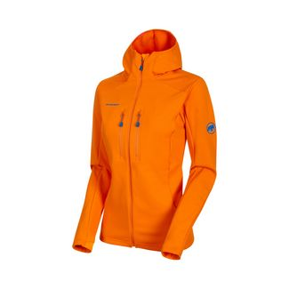 Mammut Eiswand Advanced ML Hooded Jacket Women Fleecejacke Damen sunrise