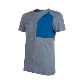 Mammut Crashiano Pocket T-Shirt Men T-Shirt Herren wing teal melange-sapphire
