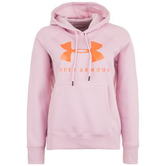 Under Armour Rival Fleece Graphic Sportstyle Hoodie Damen rosa