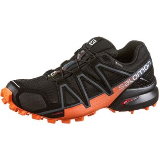 Salomon SPEEDCROSS 4 GTX® Wanderschuhe Damen black-exotic orange-ebony