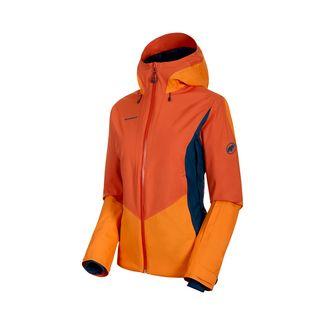 Mammut Casanna HS Thermo Hooded Jacket Women Hardshelljacke Damen pepper-cheddar-wing teal