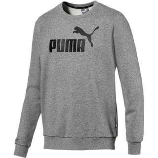 PUMA ESS Logo Sweatshirt Herren medium-gray-heather