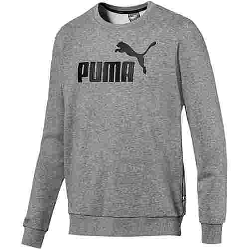 PUMA ESS Logo Sweatshirt Herren medium-gray-heather