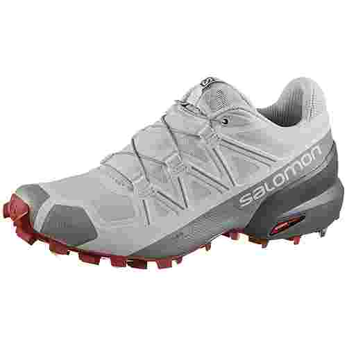 Salomon Speedcross 5 Trailrunning Schuhe Damen Illusion Blue/Stormy Weather/Garnet