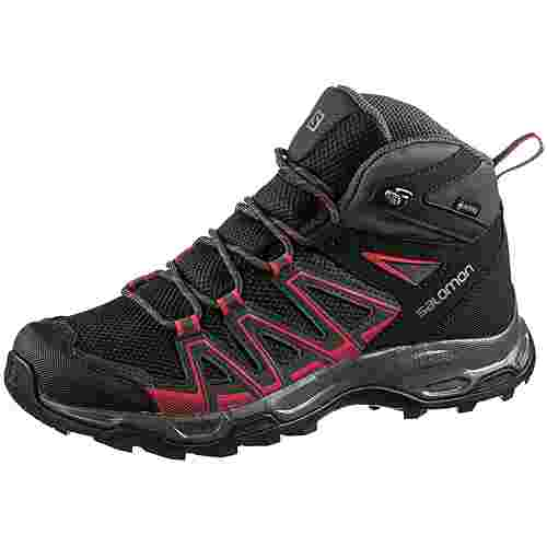 Salomon Robson Mid GTX W Wanderschuhe Damen black-phantom-barberry