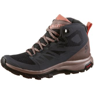 Salomon OUTline Mid GTX® Wanderschuhe Damen ebony-deep taube-tawny orange